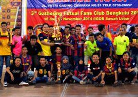 IndoBarça Bengkulu Juarai Futsal Gathering Antar Komunitas