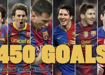 500 Gol Messi. 450 Gol untuk Barça