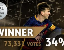 Gol Messi Menjadi 'The UEFA Goal Of The Season' 2015/16
