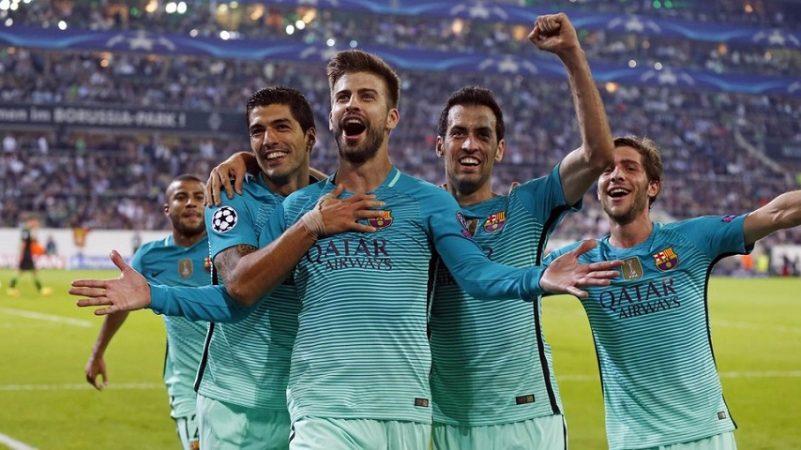 Highlights: Liga Champions – Borussia Monchengladbach vs FC Barcelona (1-2)