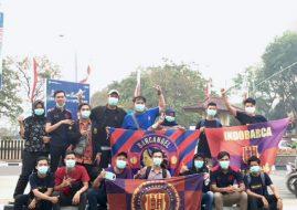 Indobarca Chapter Palembang berbagi masker